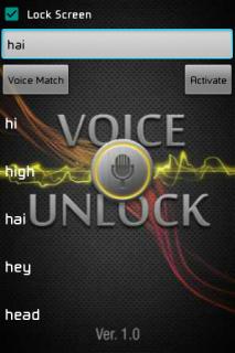 Voice Unlocker Lock Screen 5 0 Download APK for Android - Aptoide