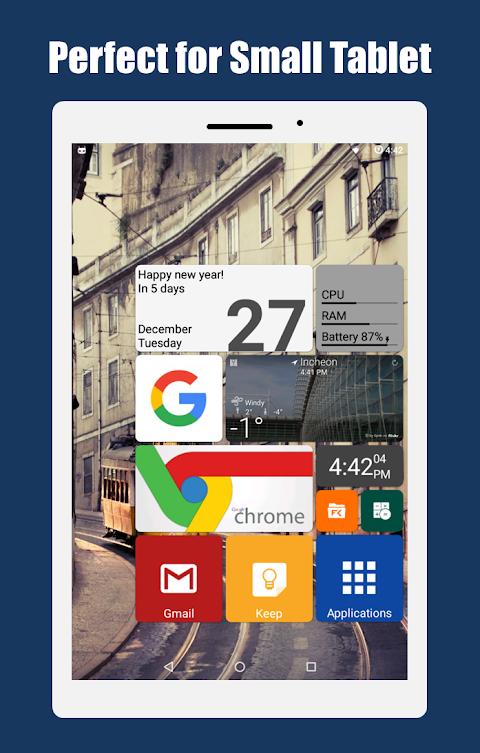 Square Home 3 - Launcher : Windows style screenshot 1