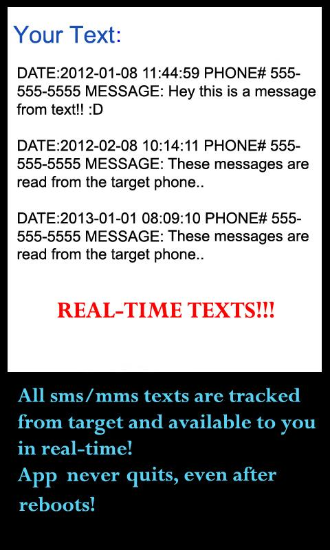 Cell phone text message spyware