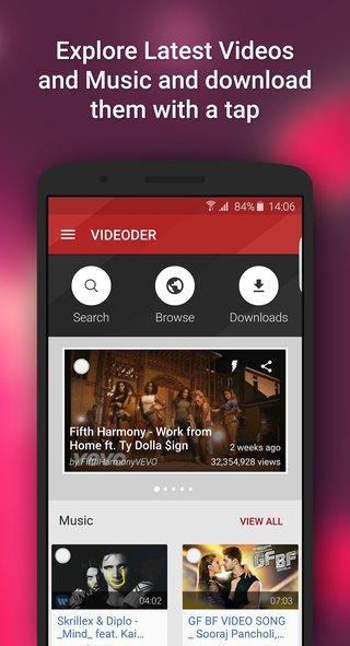 Youtube Video downloader - Videoder screenshot 1