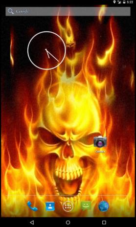 Fire Skull Live Wallpaper Screenshot 4