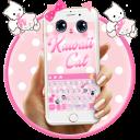 Cute Kawaii Kitty Pink Bow Keyboard Theme