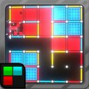 Dots and Boxes (Neon) 80s Style Cyber Game Squares