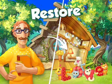 Bloomberry — match-3 design story makeover of home screenshot 16