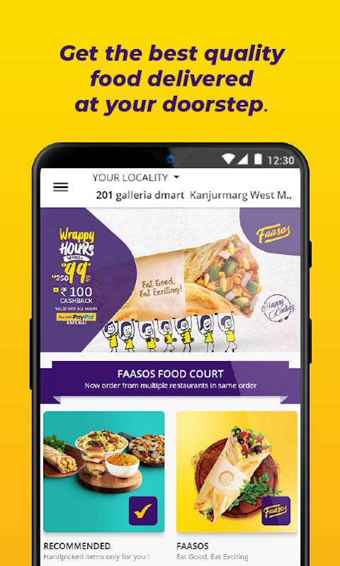 FAASOS - Order Food Online screenshot 1