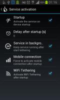 Auto WiFi Tethering Screen