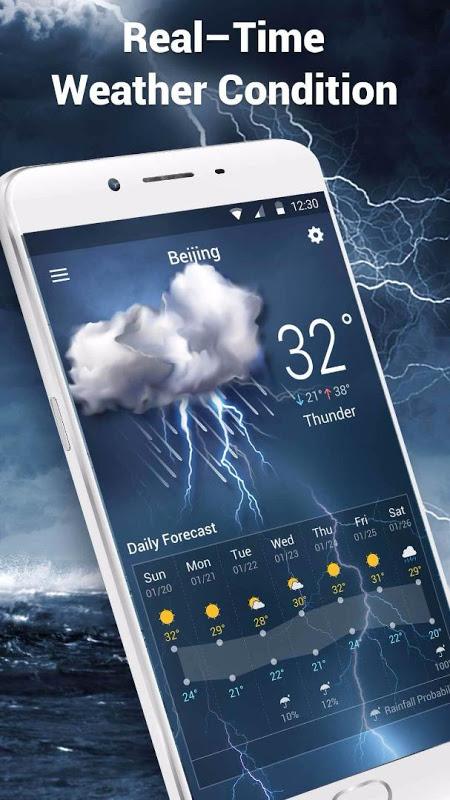 Galaxy weather digital clock screenshot 2