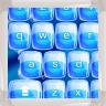 Icône Claviers d'eau bleue