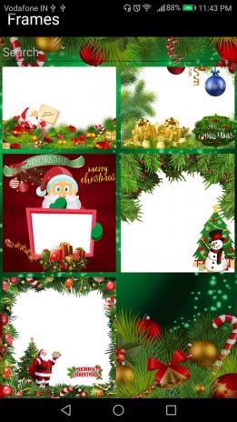 christmas photo frame effect editor with dp maker screenshot 4