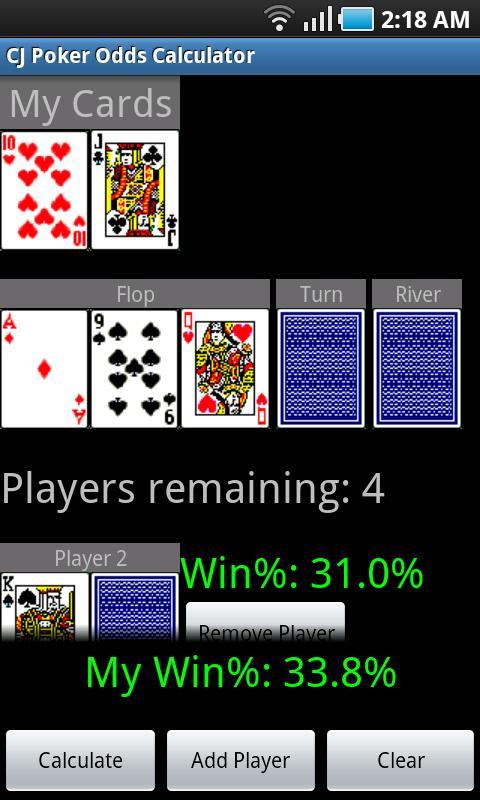 CJ Poker Odds Calculator screenshot 2