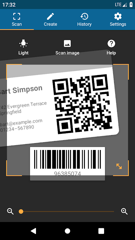 QRbot: QR code reader and barcode reader screenshot 1
