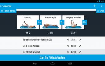 Runtastic Six Pack Abs Workout Screenshot