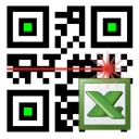 LoMag Barcode Scanner to Excel - free inventory QR