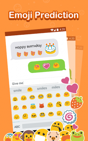 Emoji Keyboard Cute Gif Sticker Emoticon Screenshot 5