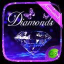 3D Diamonds GO Keyboard Animated Theme