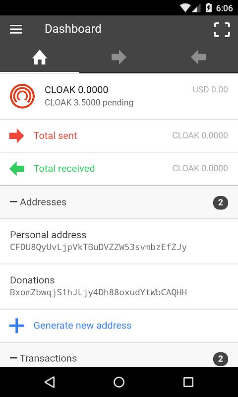 CLOAK OneMobile screenshot 2