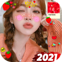 Live Sweet Camera Face Stickers Editor-Snap Filter