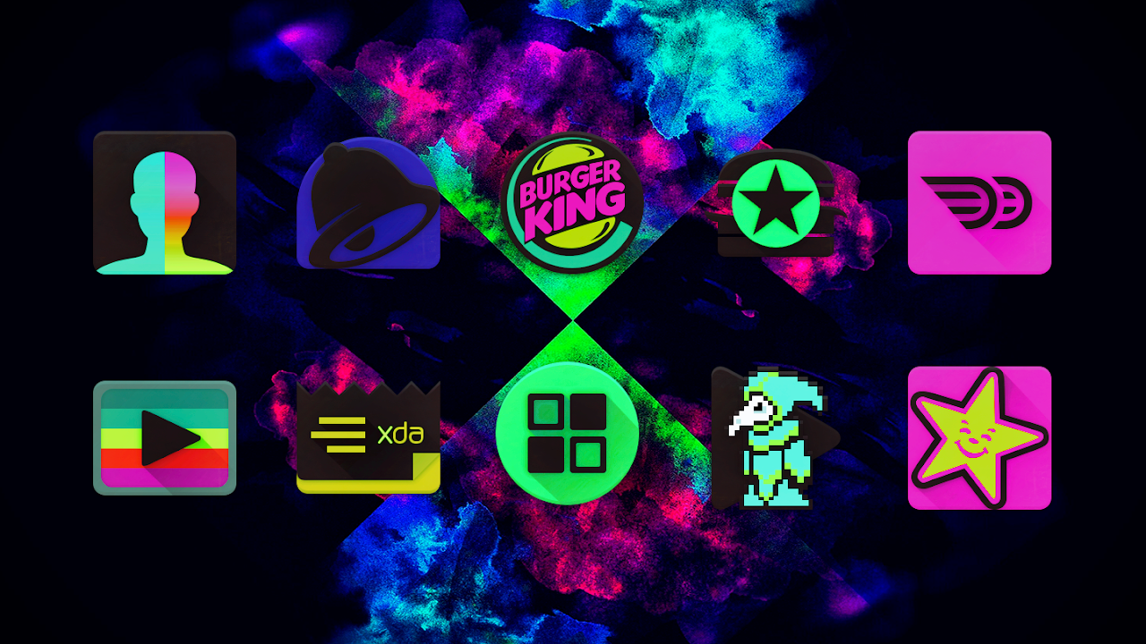Black Light Icon Pack screenshot 2