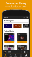 OffTop: Record & Rap on Beats Screen