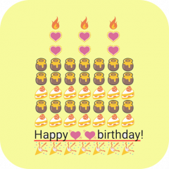 Birthday Art Emoji Keyboard Icon