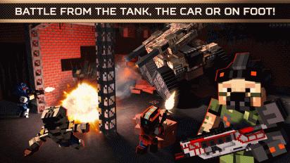 blocky cars online shooter fps screenshot 4