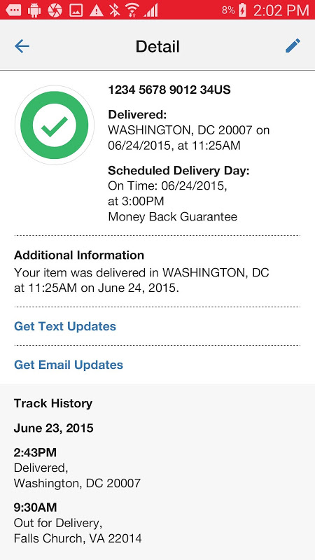 USPS MOBILE® screenshot 2