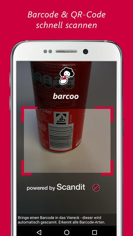 barcoo - QR Scanner. Inhalte per Barcode checken screenshot 1
