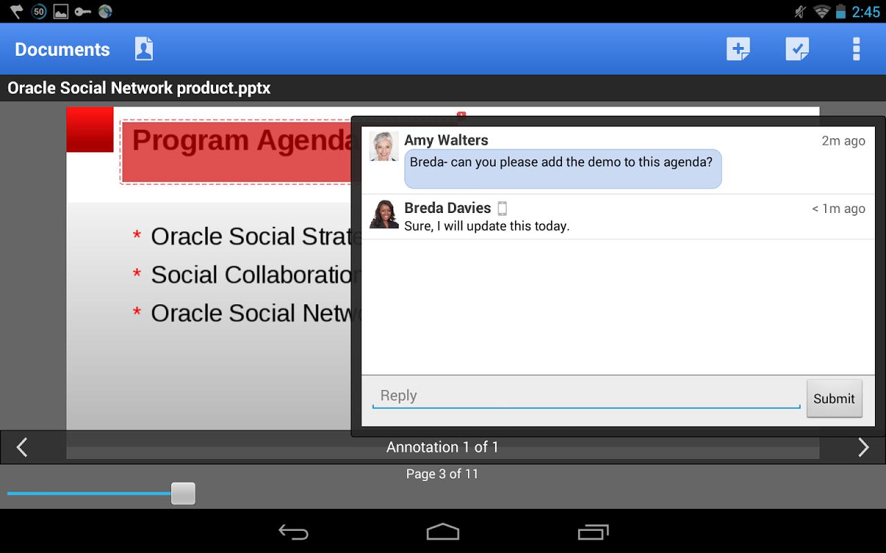 Oracle Social Network screenshot 1