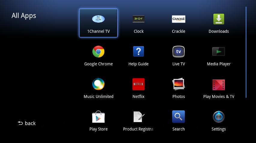 1Channel for Google TV screenshot 1