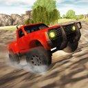 Bergauf Jeep Rallye-Fahrer 3D