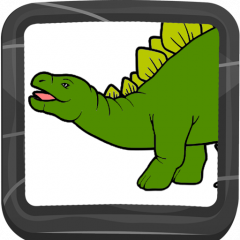 Dinosaur Coloring Book Icon