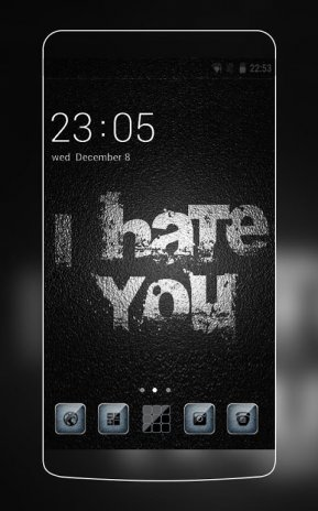 Cool Dark Black Theme Font Text Wallpaper Hd 1