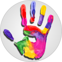 Baby Distractor: Finger Paint