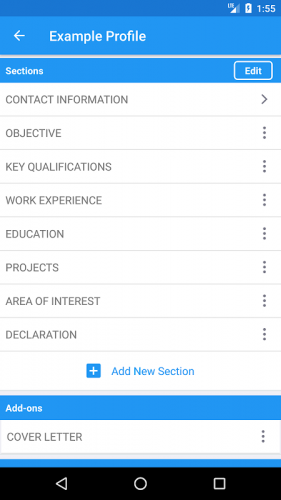 Resume Builder Free Cv Maker Resume Templates 4 0 4 Download Android Apk Aptoide