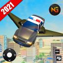Летающий полицейский автомобиль вождения
