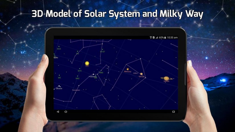 Sky Map View Constellations Finder Solar System Download APK - Solar system map 3d