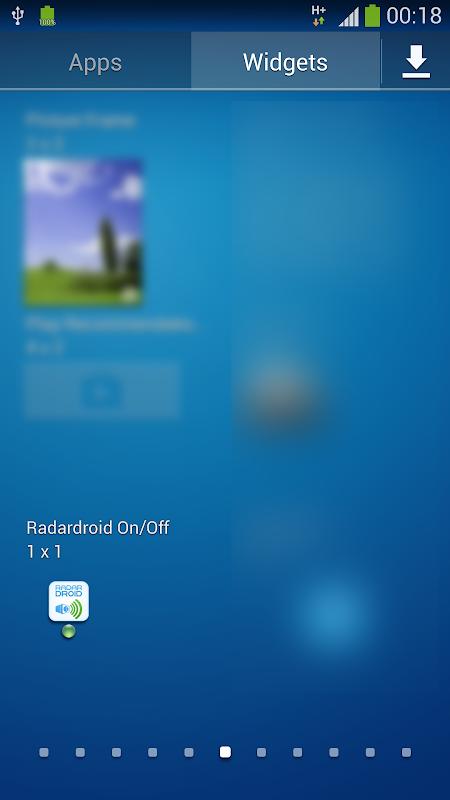 Widget for Radardroid Pro screenshot 1