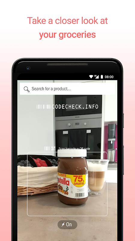 CodeCheck: Food & Cosmetics Scanner screenshot 1