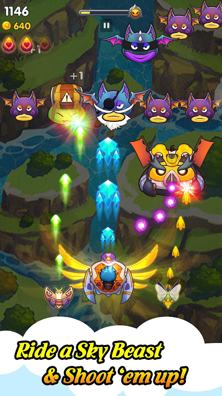 Sky Champ: Monster Attack (Free Space Shooter) screenshot 1