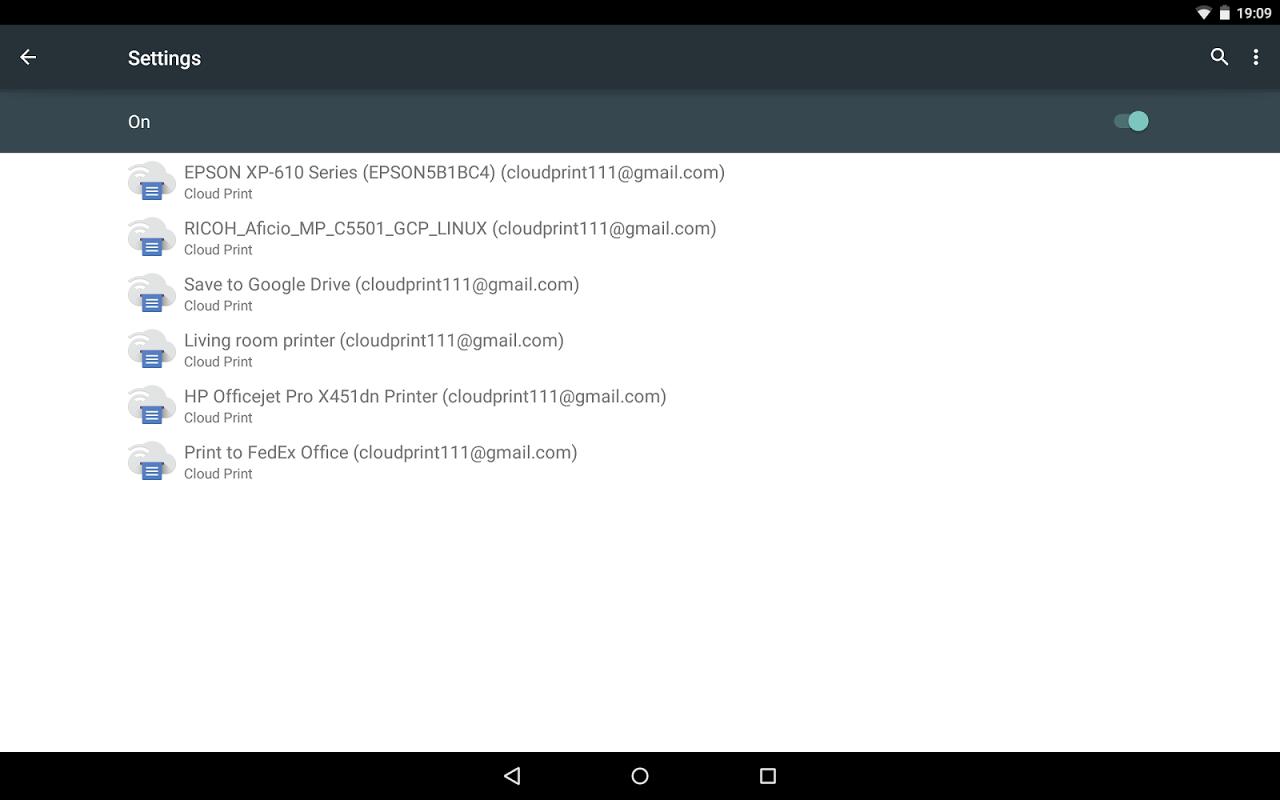 Google Cloud Print screenshot 1