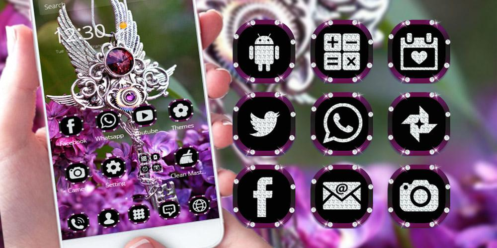 Purple Diamond. Theme for CM Launcher screenshot 1
