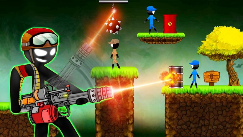 stickman shotgun shooting - Stickman Games 1 2 Download APK