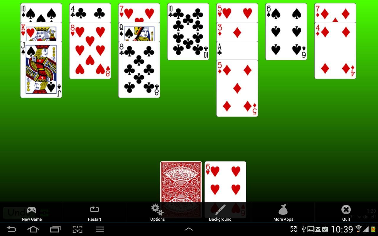 Golf Solitaire screenshot 1