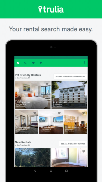app apartments for rent trulia for rent apk for android aptoide