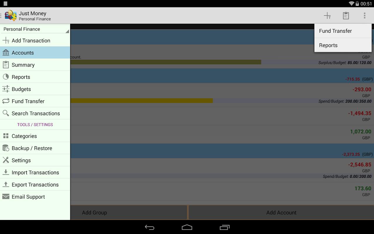 Just Money - Expense Manager screenshot 1