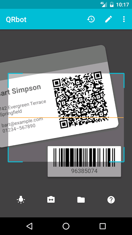 QRbot: QR code scanner e barcode reader screenshot 1
