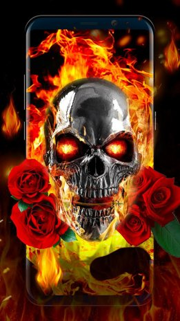 Flaming Skull Live Wallpaper for Free 2