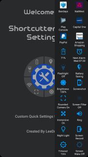 Shortcutter - Quick Settings & Sidebar screenshot 1