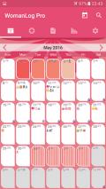 WomanLog Pro Calendar Screenshot