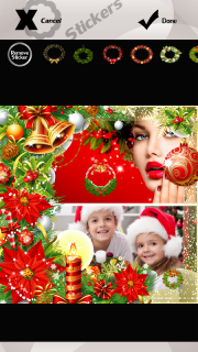 Xmas Wreath Photo Collage screenshot 7